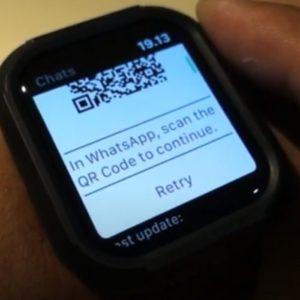 barcode watchchat untuk dikoneksikan ke iphone