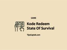 daftar redeem gift code state survival