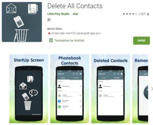 Aplikasi delete all contacts di playstore android