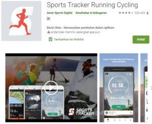aplikasi sports tracker running cycling untuk rekam rute perjalanan