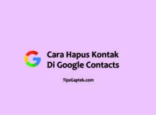 cara menghapus kontak yang tersimpan di akun google