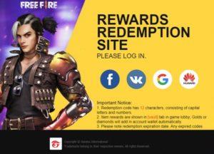 website free fire garena untuk redeem code gratis