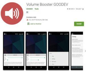 aplikasi volume booster goodev untuk memperbesar volume hp yang kecil