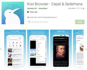 kiwi browser untuk aplikasi membuka like tinder di android