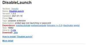dissable launch kunci aplikasi dan foto iphone