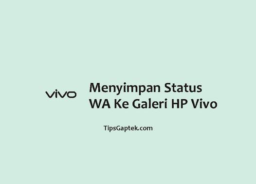 cara menyimpan status wa di hp vivo